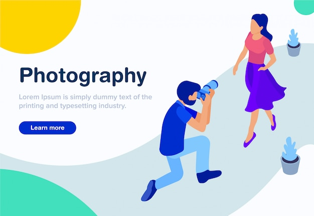 Isometric concept of photography design