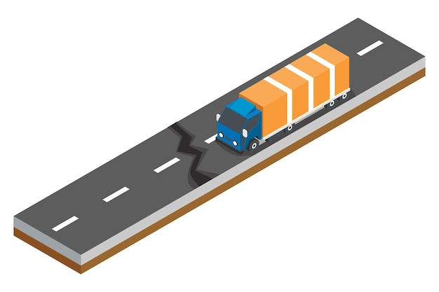 Isometric concept of road accidents