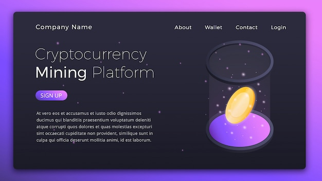 Isometric cryptocurrency online mining platform