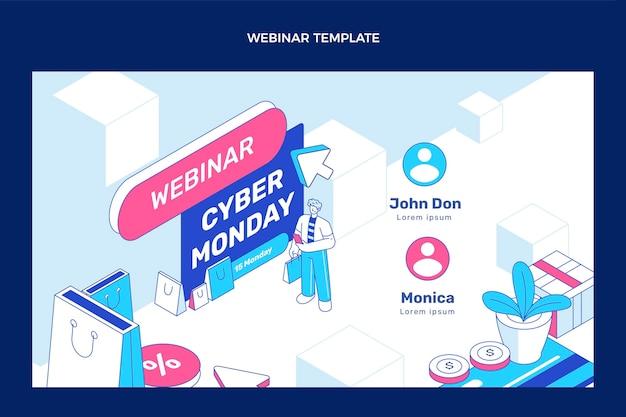 Isometric cyber monday webinar template