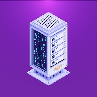 Isometric data base tower