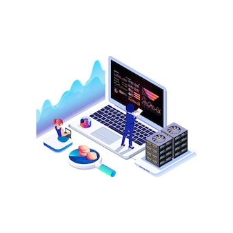 Isometric data collection, analysis graph and online computing.