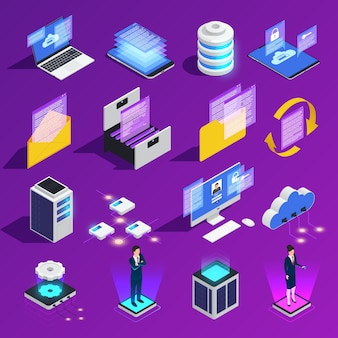 Isometric data storage element collection