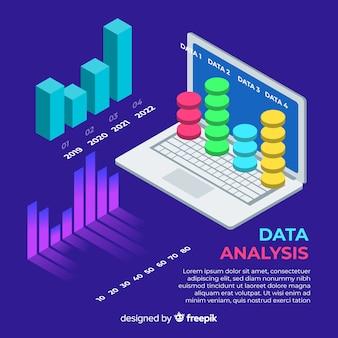 아이소 메트릭 데이터 시각화 개념