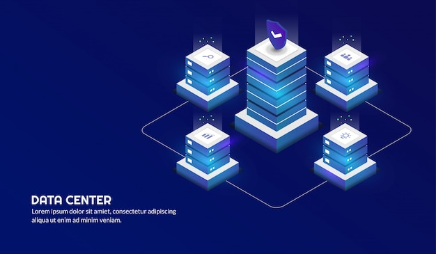 Isometric date center concept