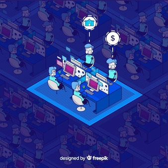 Isometric design of call center