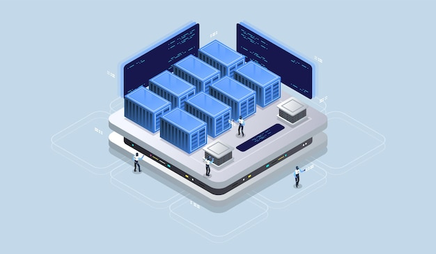 Isometric design concept virtual reality and augmented reality.