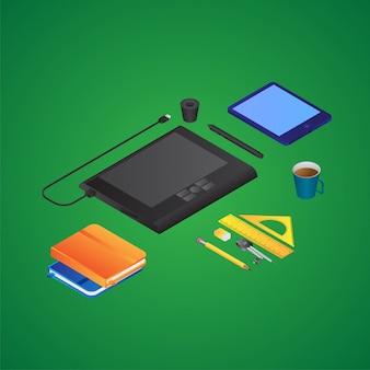 Изометрические дизайнерские инструменты