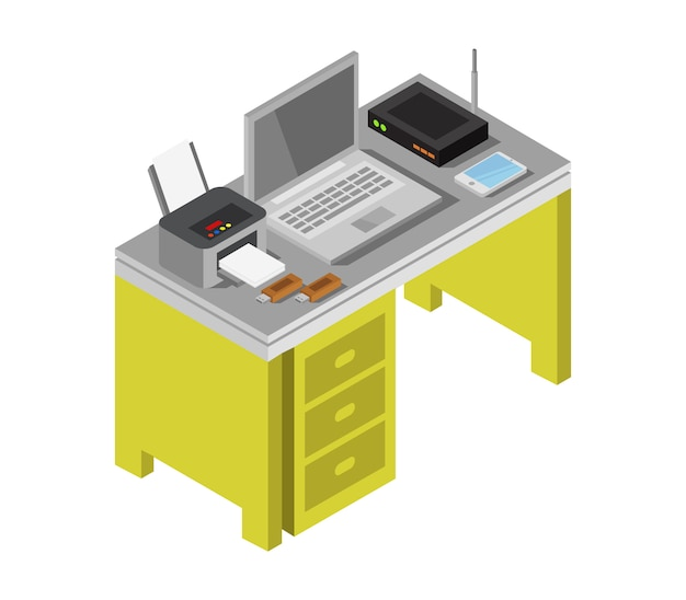 Isometric desk