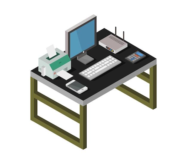 Isometric desk