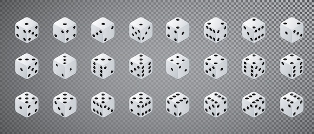 Isometric dice set