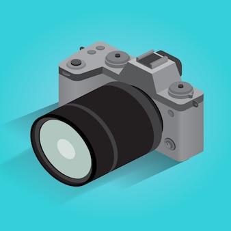 Isometric digital photo camera icon
