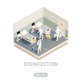 Isometric disinfection banner