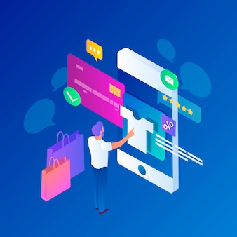 Isometric e-commerce - concept
