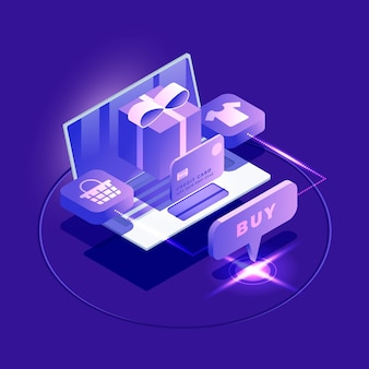 Isometric e-commerce - concept
