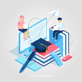 Isometric education illustration