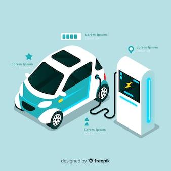 Isometric electric car