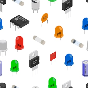 Isometric electronic components pattern