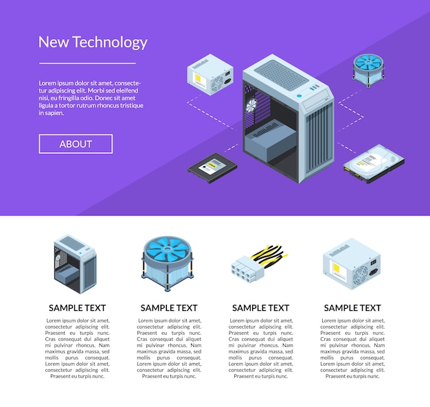 Isometric electronic devices banner