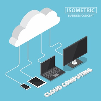Isometric electronic devices connecting with cloud