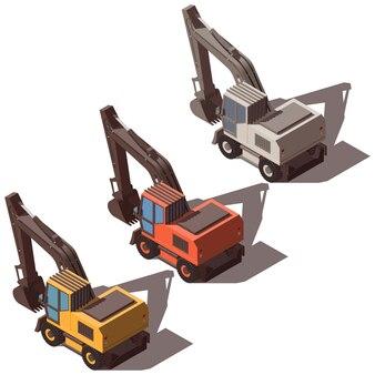 Isometric excavator