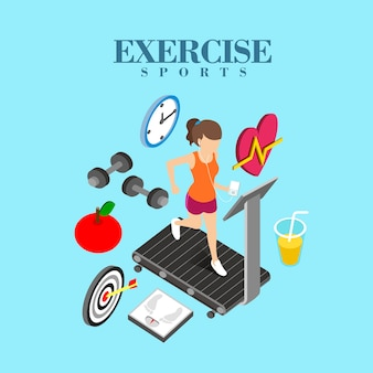 Isometric  of exercise concept
