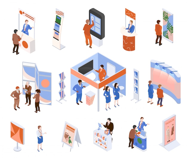 Isometric exhibition set