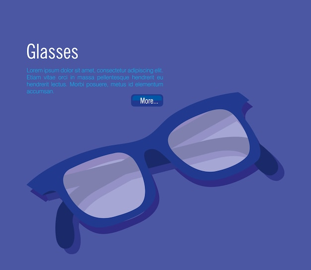 Isometric eyeglasses accessory icon