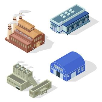 Isometric factory  set.