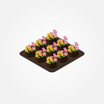 Isometric farm elements
