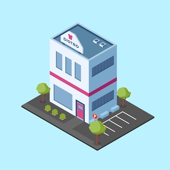 Isometric fashion shop