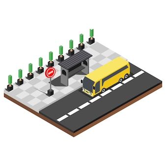Isometric fast food places, illustration vector