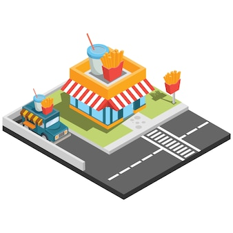 Isometric fast food places