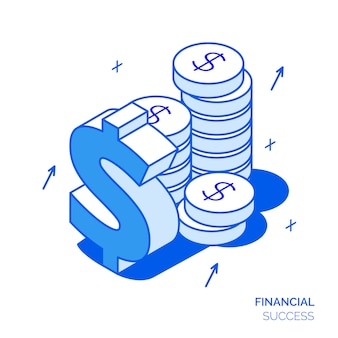 Isometric financial concept