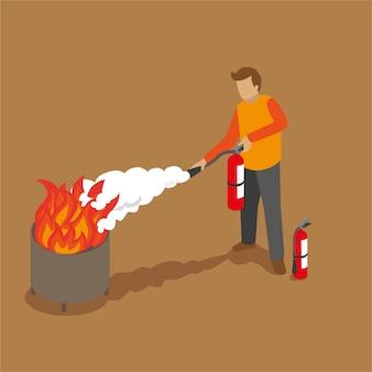 Isometric fire extinguiser training