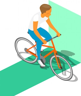 Isometric fitness cyclist