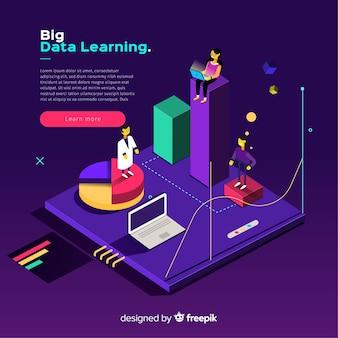 Isometric flat big data background