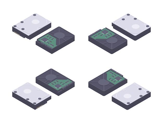 Isometric flat hdd, hard drive disk
