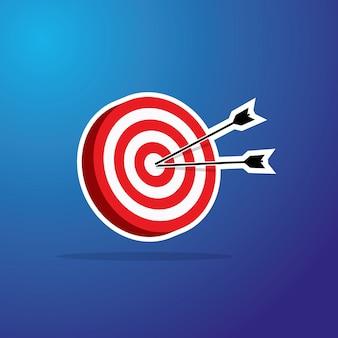 Изометрическая плоская цель и стрелка
