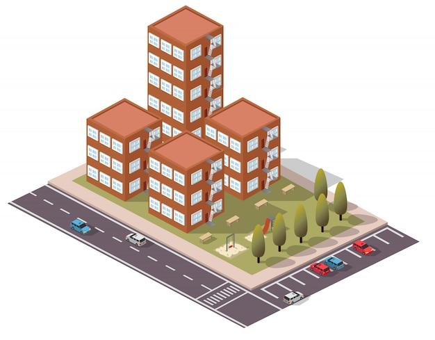 Isometric flats duplex