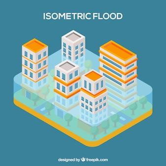 Isometric flood design