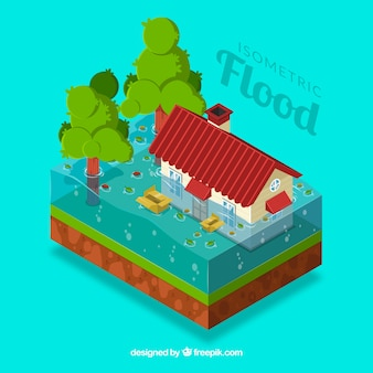 Isometric flood