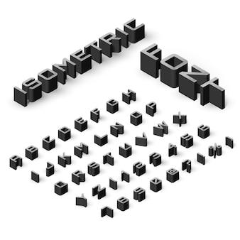 Набор изометрических шрифтов