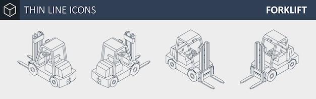 Isometric forklift truck.