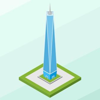 Isometric freedom tower