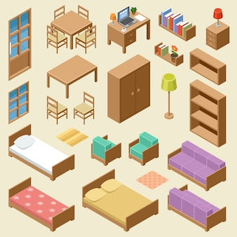 Isometric furniture set