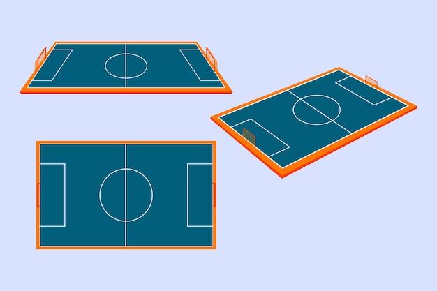 Campo futsal isometrico