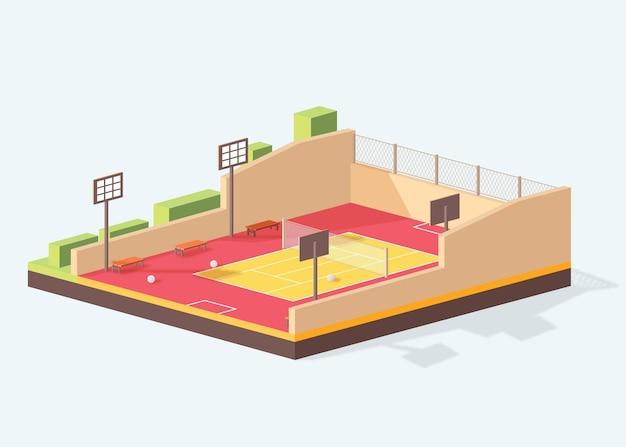 Isometric futsal field