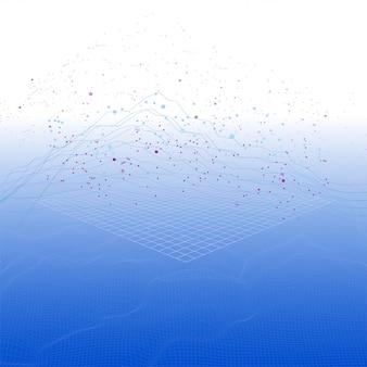 Isometric futuristic infographic