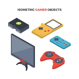 Isometric gamer objects